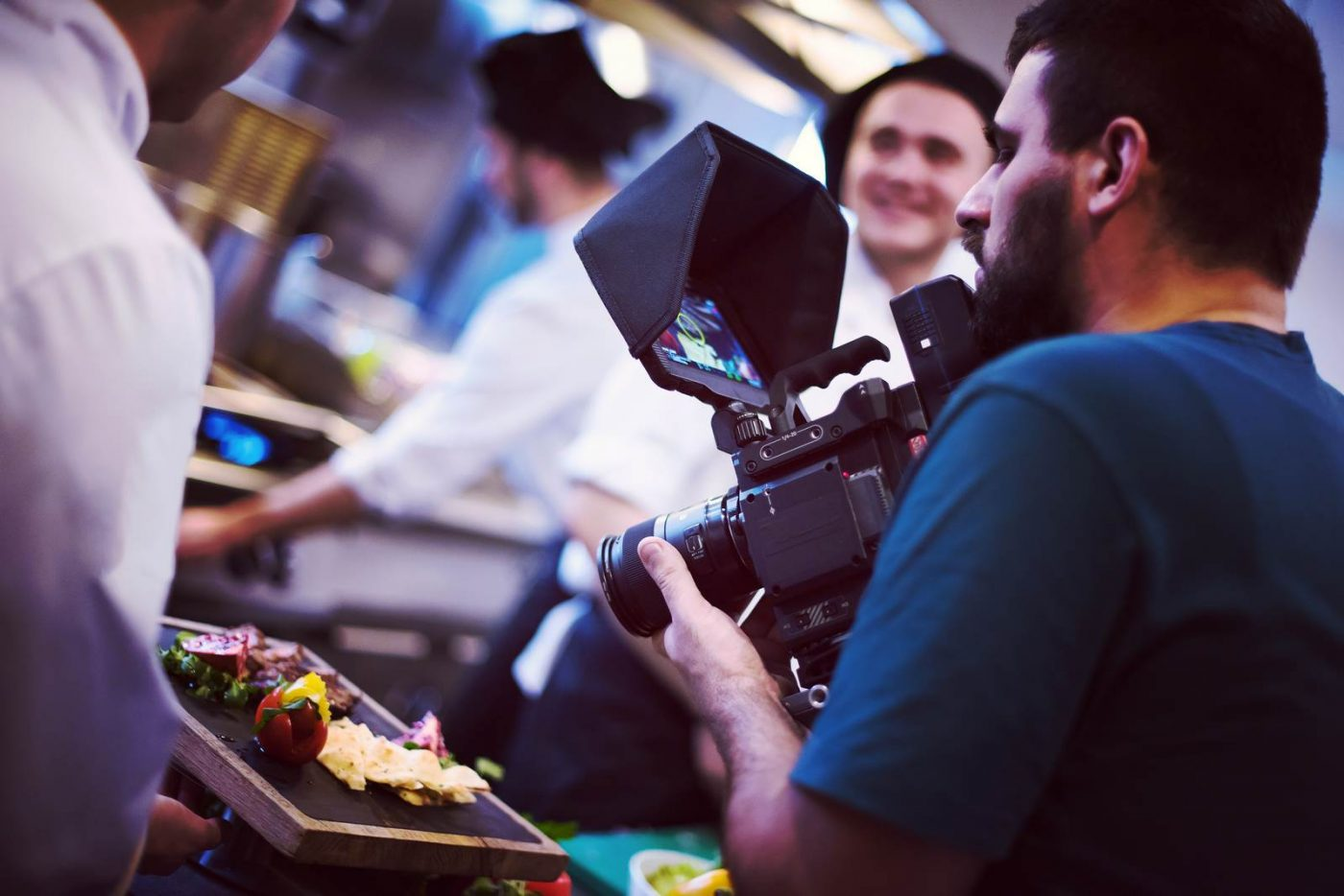 commercial videography team shoots video in Las Vegas